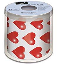 papel higiénico de corazones