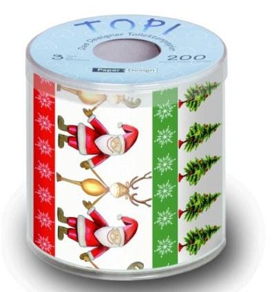 papel higiénico de Navidad