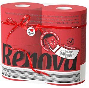 papel higiénico renova rojo